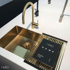 פליז/זהב כיור מטבח - Nivito 1-CU-500-180-BB