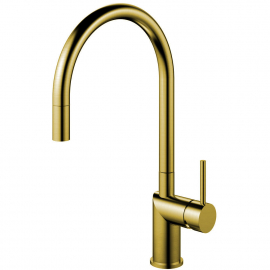 פליז/זהב ברז מטבח צינור נשלף - Nivito RH-140-EX