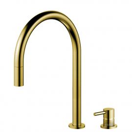 פליז/זהב טאפ מטבח צינור נשלף / גוף/צינור מופרדים - Nivito RH-140-VI