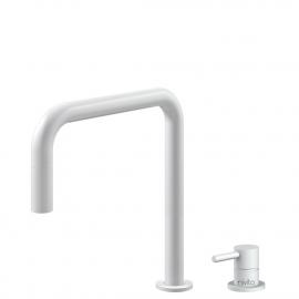 לבן ברז מטבח צינור נשלף / גוף/צינור מופרדים - Nivito RH-330-VI