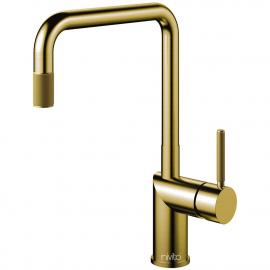 פליז/זהב ברז מטבח צינור נשלף - Nivito RH-340-EX-IN