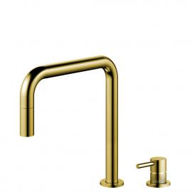 פליז/זהב טאפ מטבח צינור נשלף / גוף/צינור מופרדים - Nivito RH-340-VI