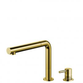 פליז/זהב טאפ מטבח צינור נשלף / גוף/צינור מופרדים - Nivito RH-640-VI